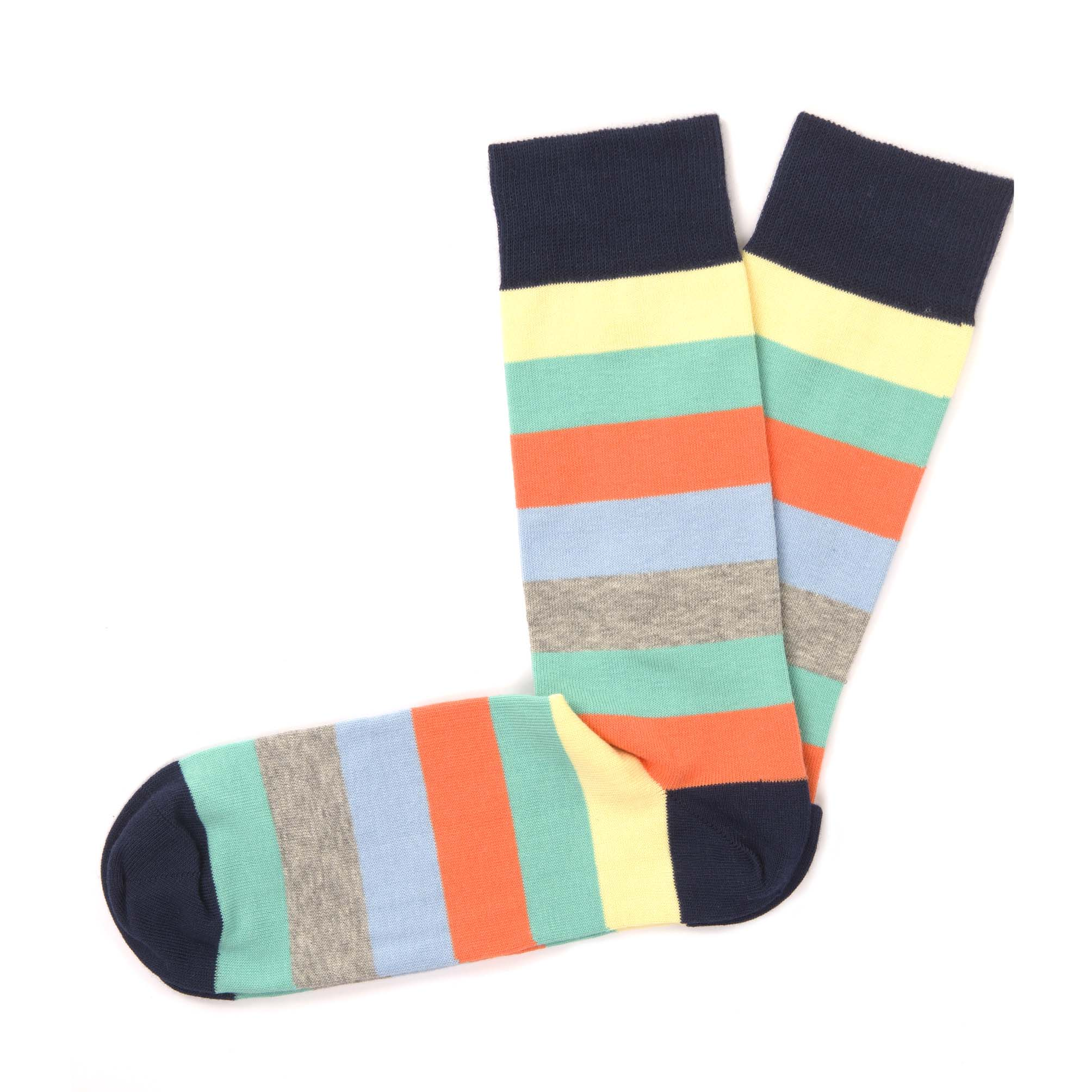 Socks light colours stripes