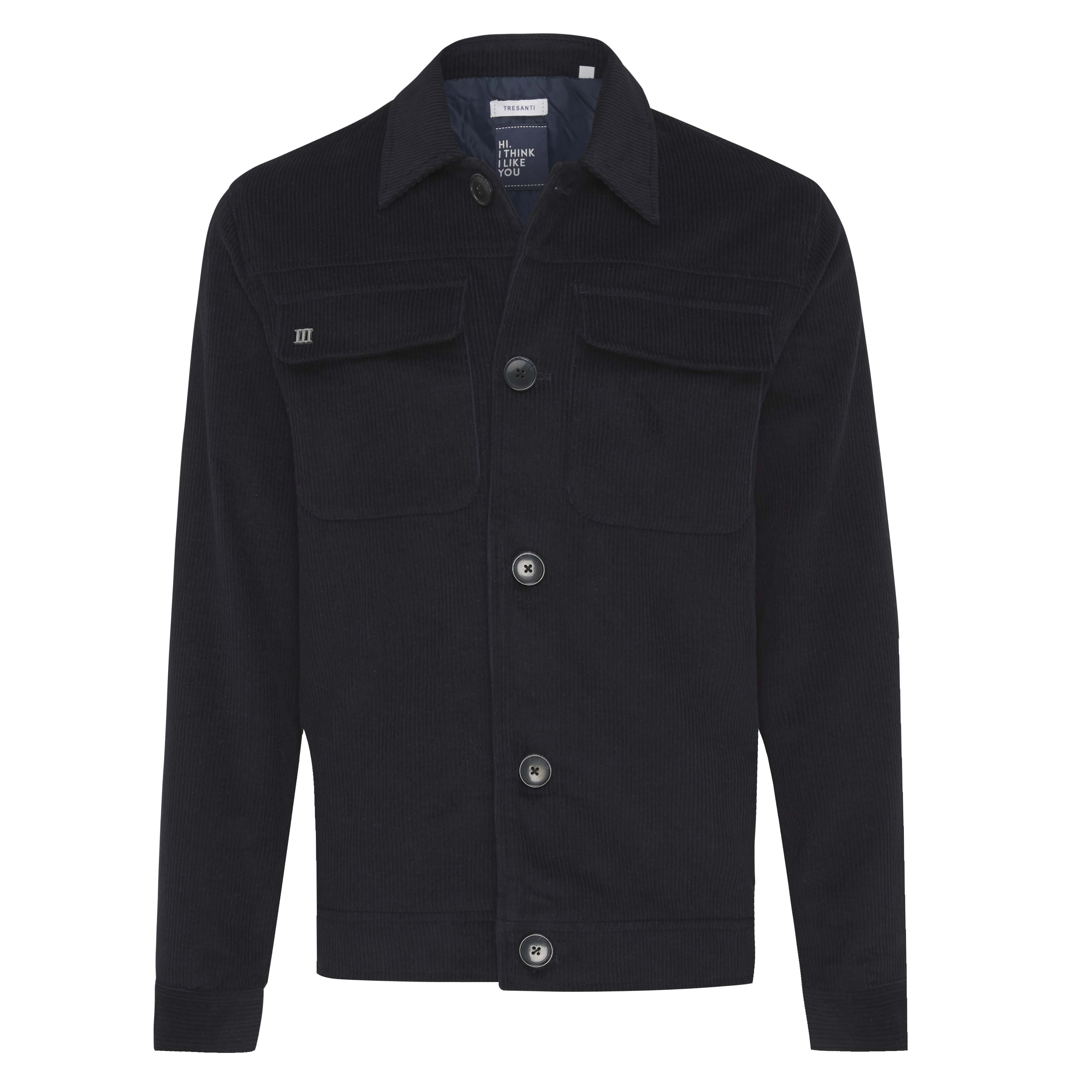 Jeff | Jacket ribcord navy