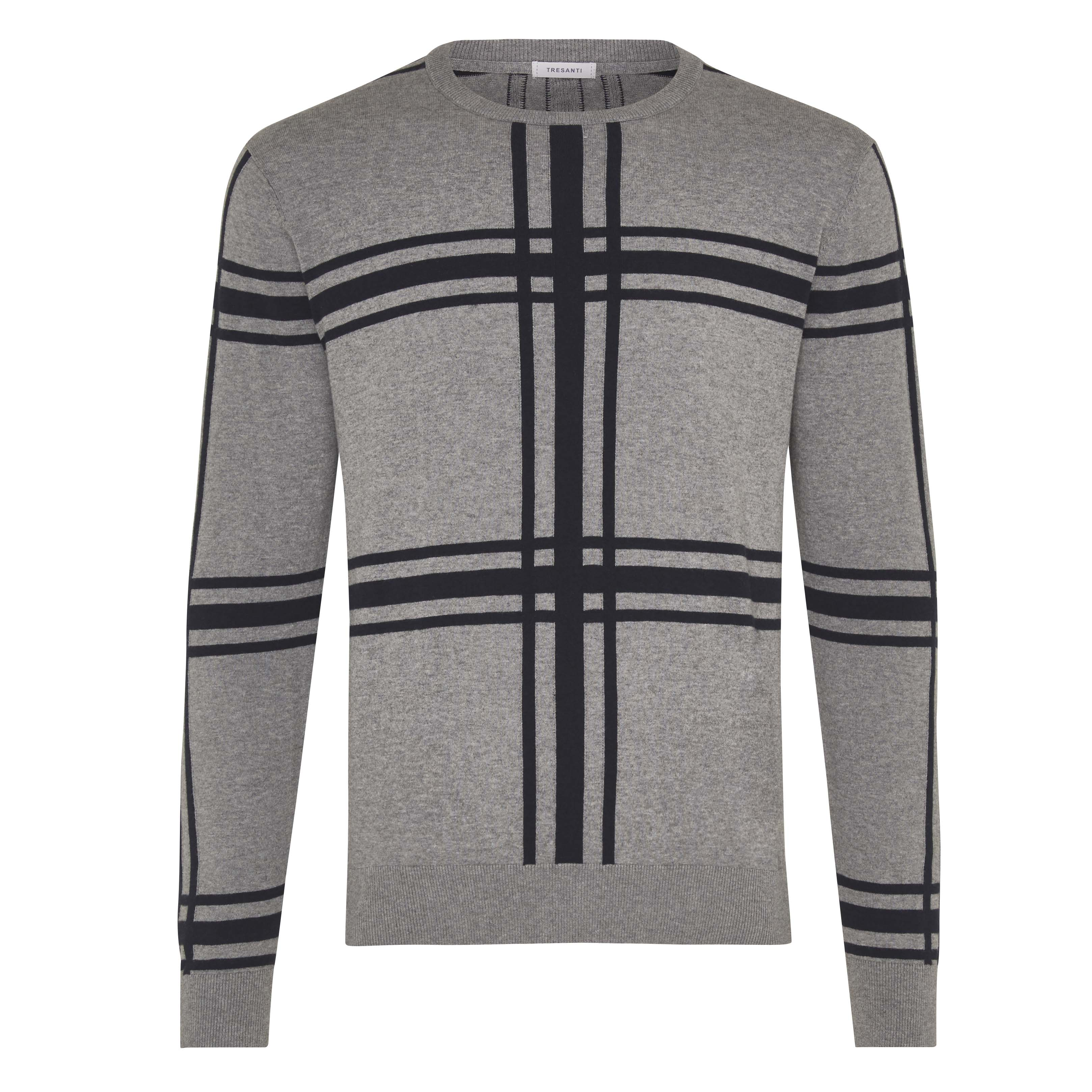 Jorik | Pullover check navy