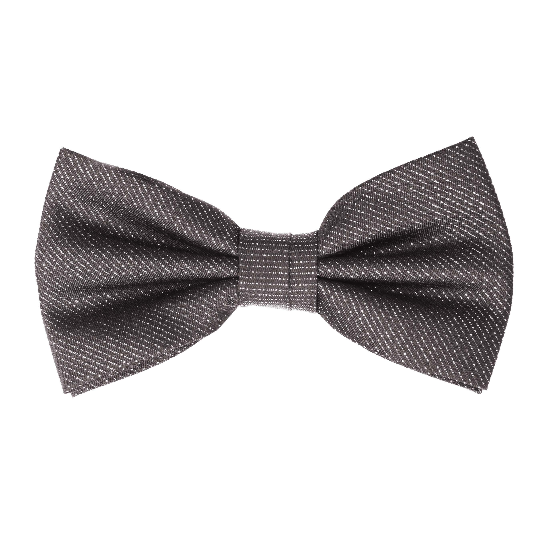 Bow tie lurex black/silver