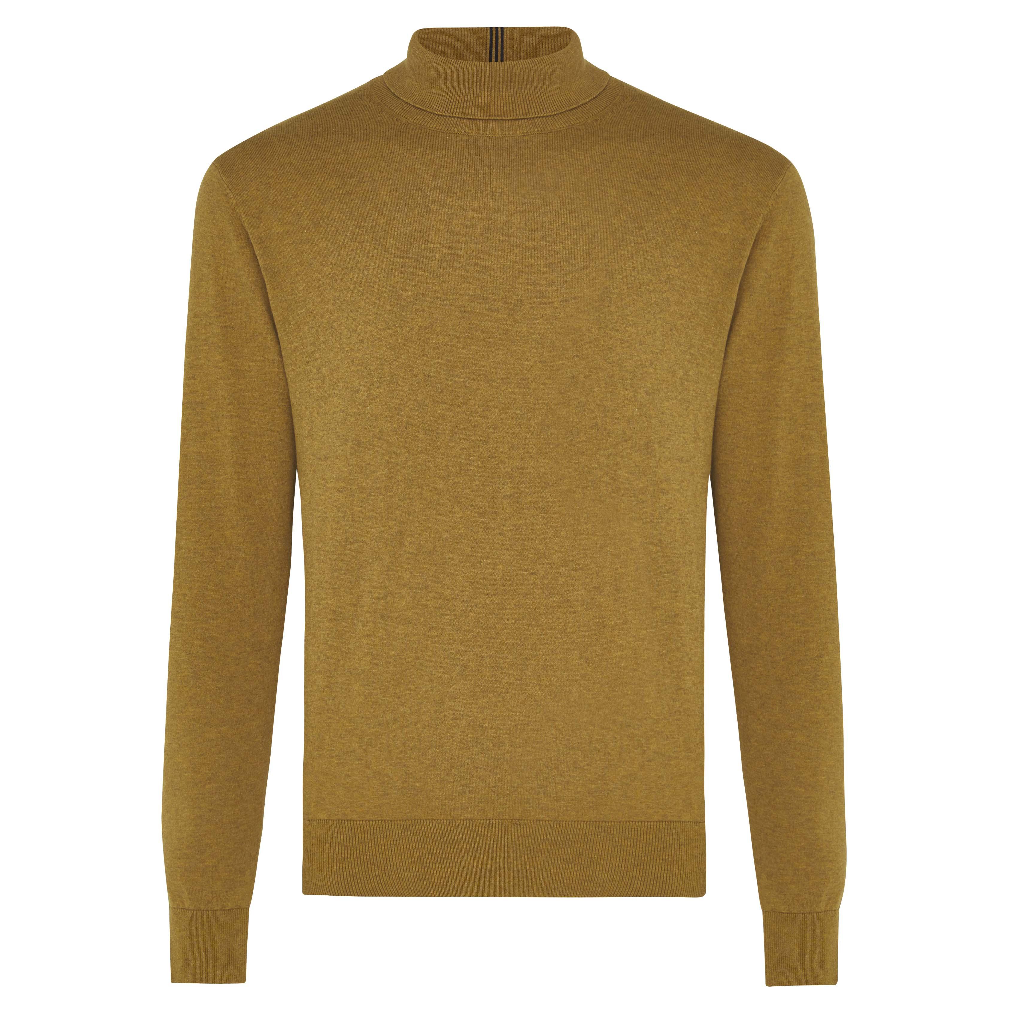 Jakob | Pullover turtleneck ocher yellow
