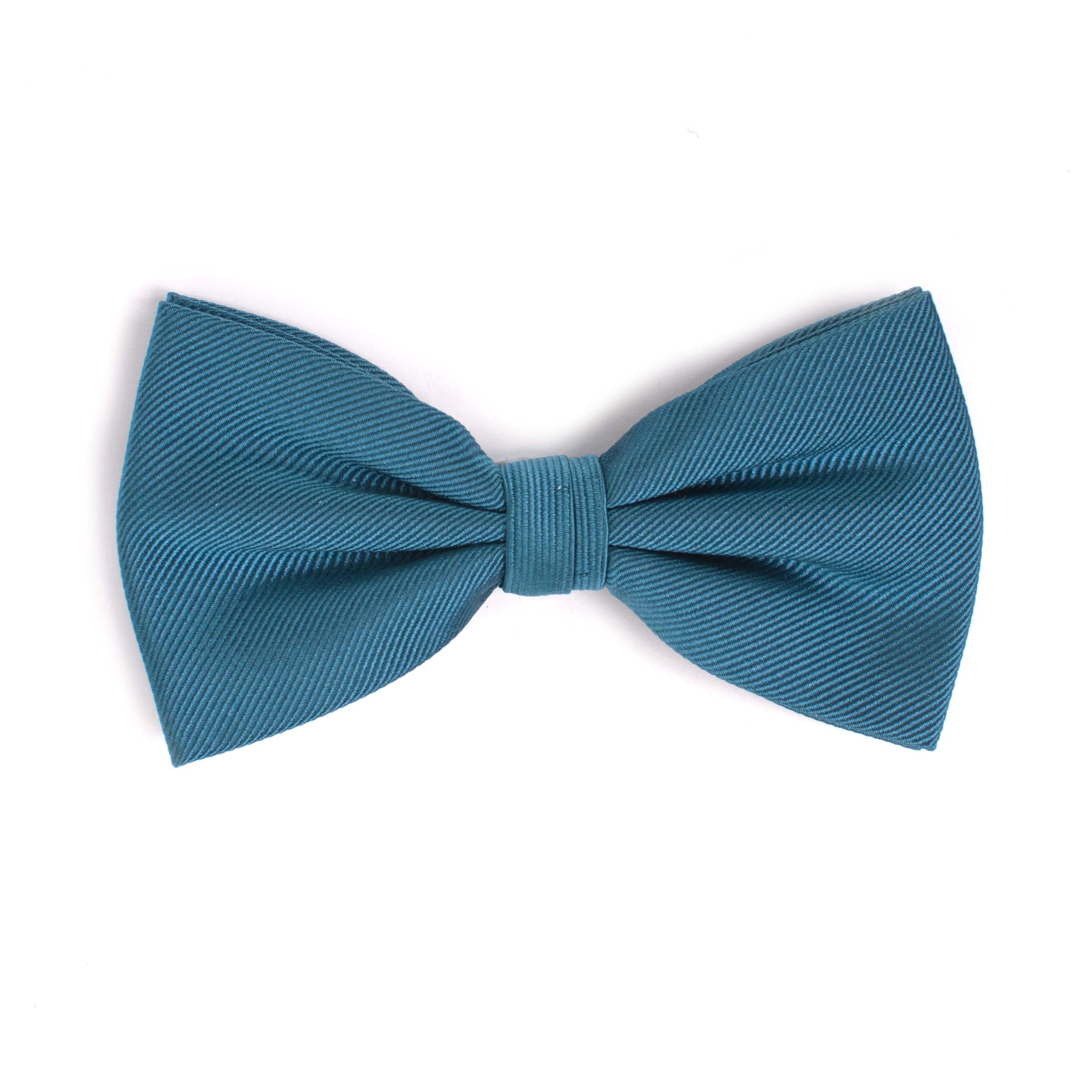 Bow tie classic ribbed petrol