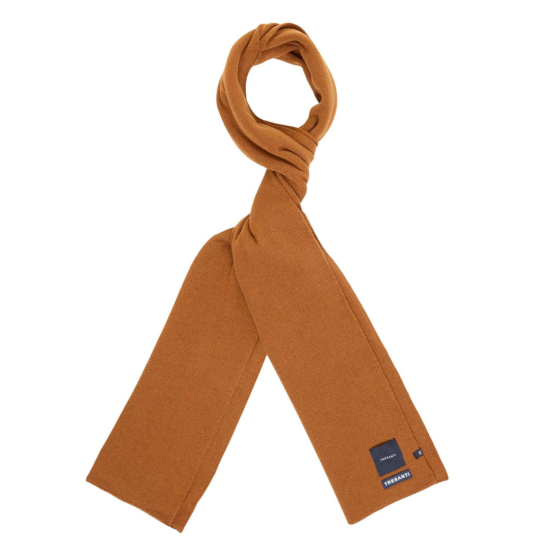 EAN | Fine knitted scarf with TRESANTI logo dark brown