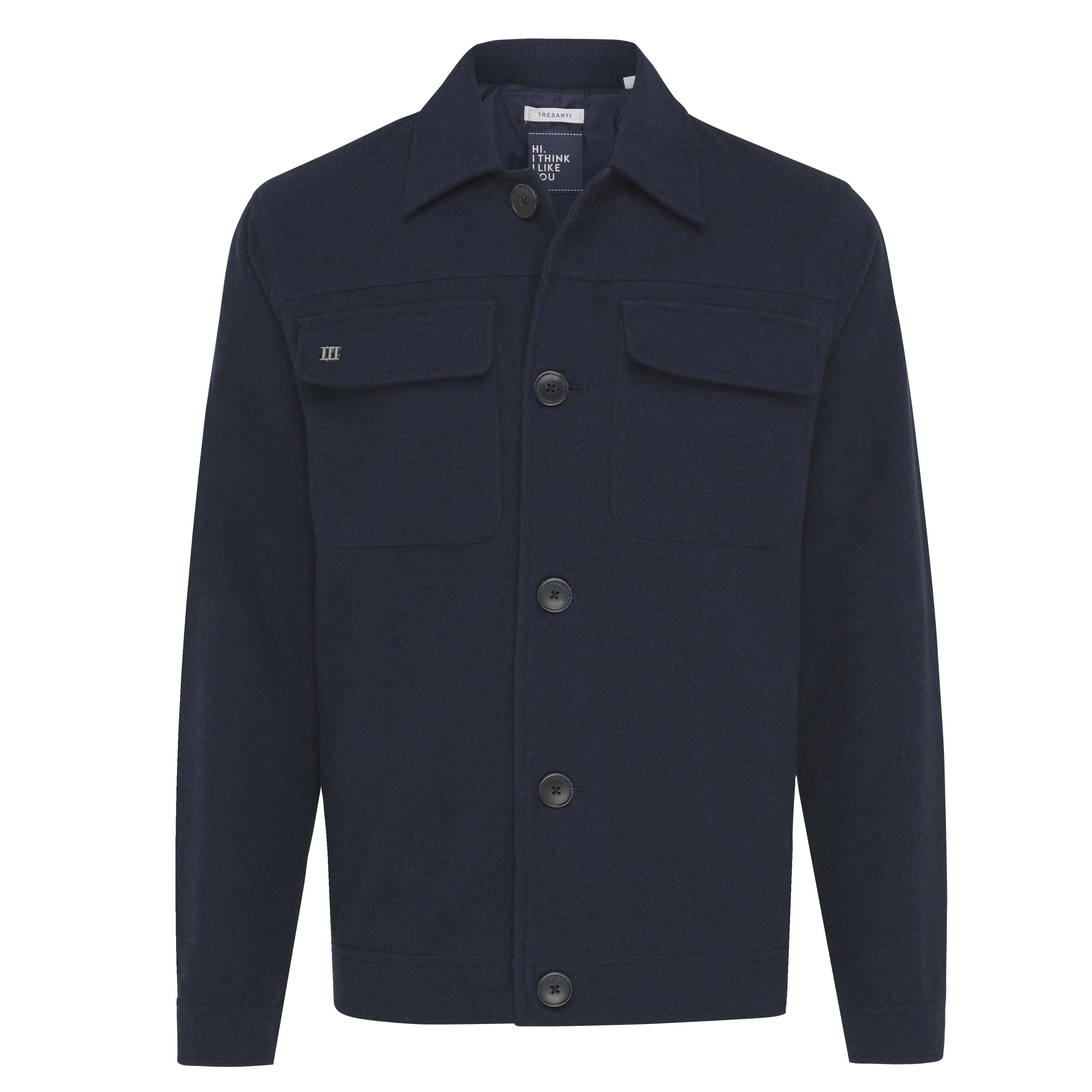 John | Jacket plain navy