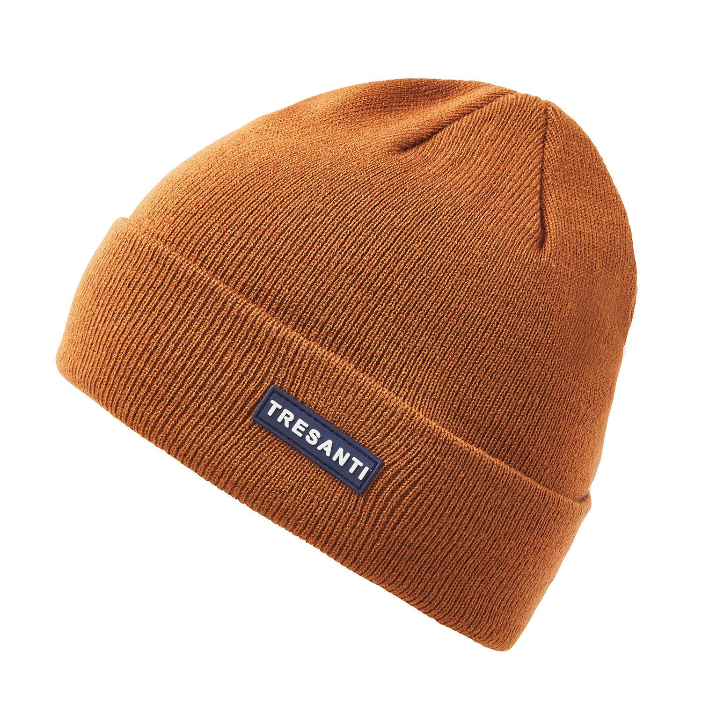 ERMEN | Fine knitted hat with TRESANTI logo in dark brown