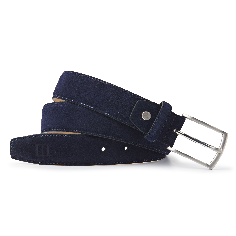 Belt suede navy