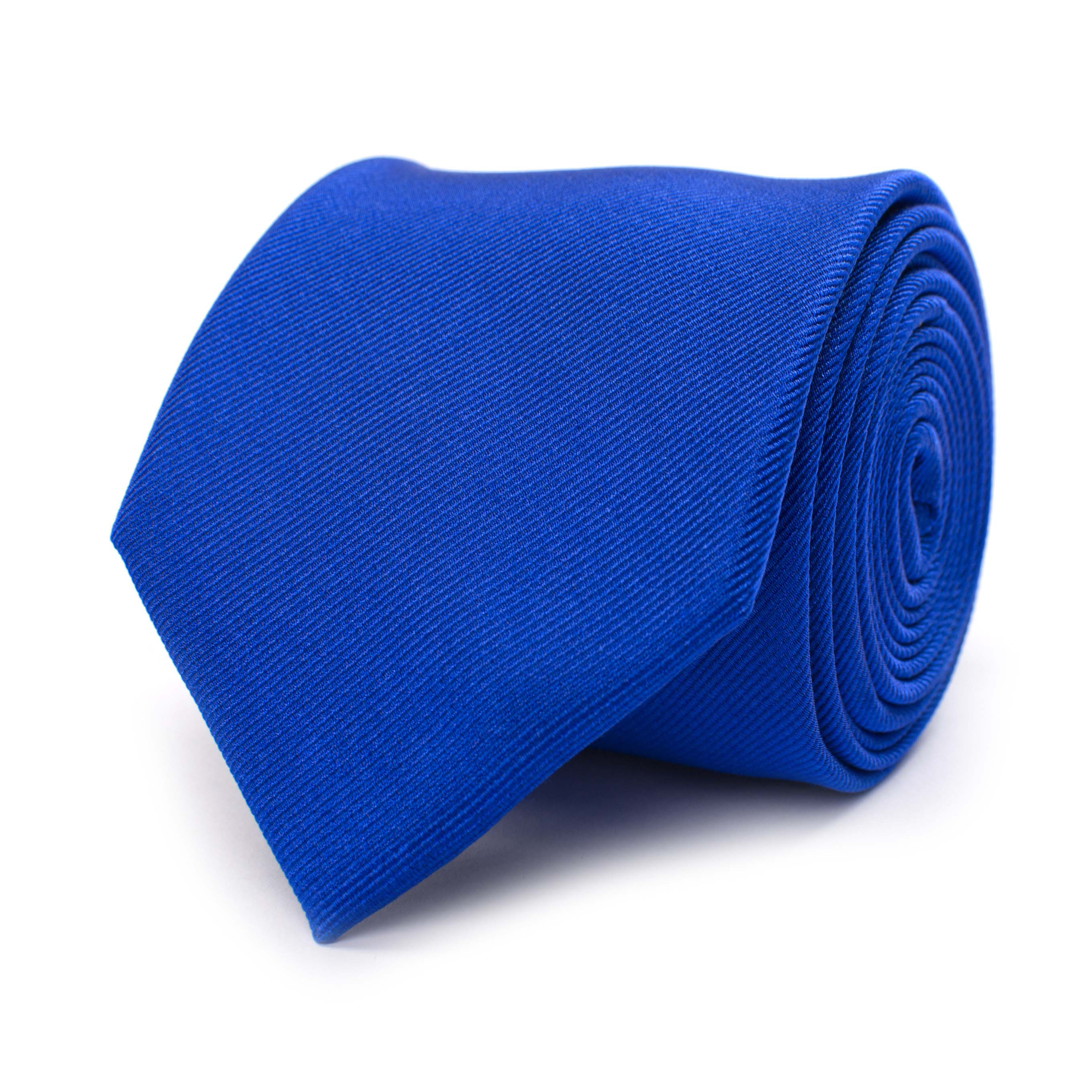 Tie classic ribbed royal blue