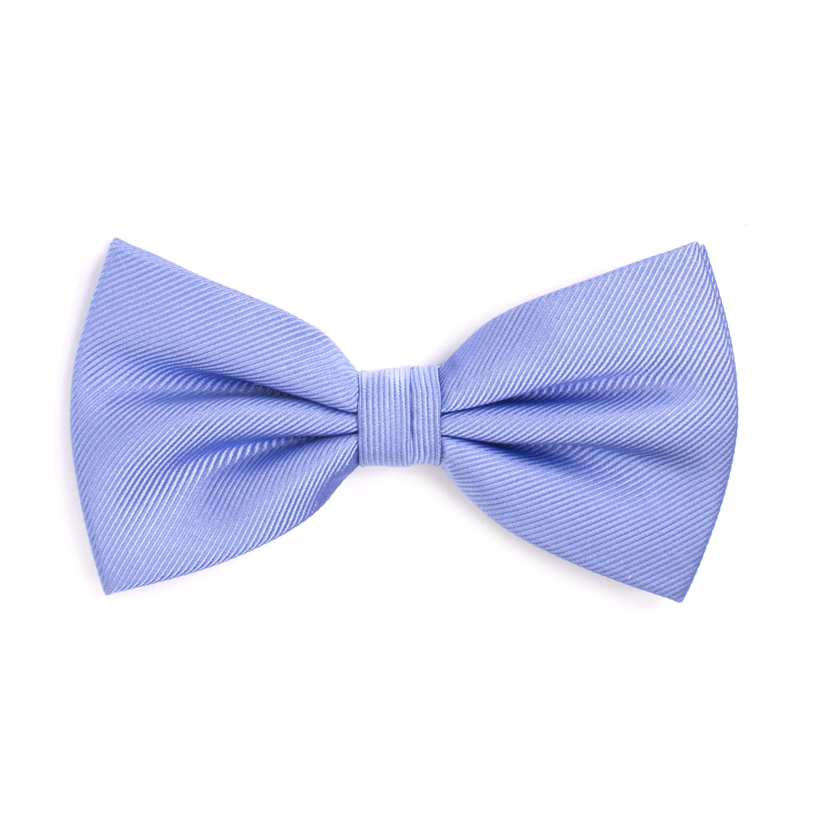 Bow tie classic ribbed sky blue