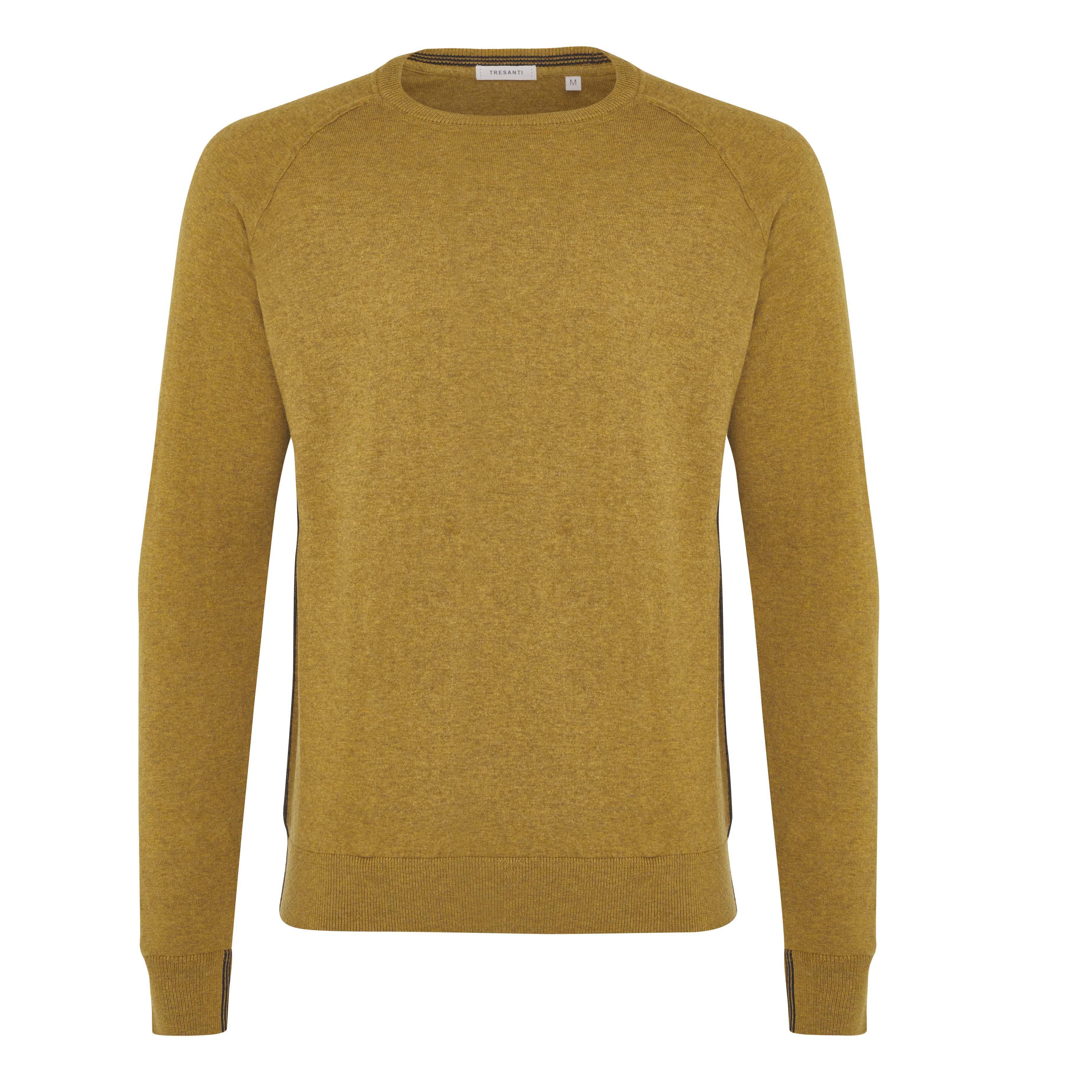 James | Pullover raglan ocher yellow