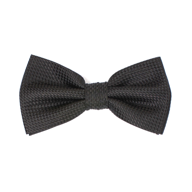 Bow tie silk panama black