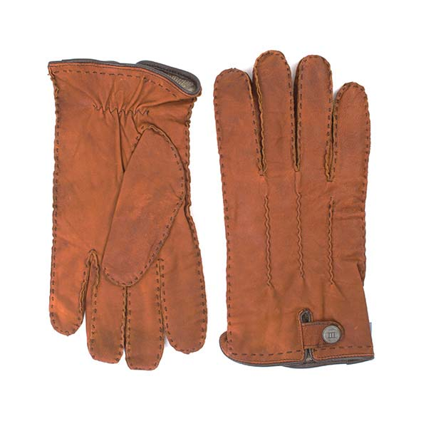 Brown sheep leather gloves