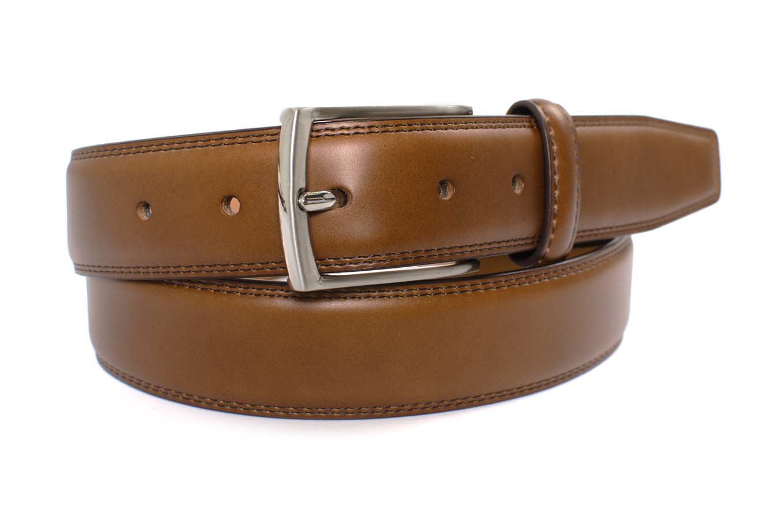Belt smoked cognac leather