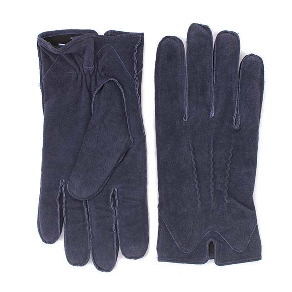 Navy suede gloves