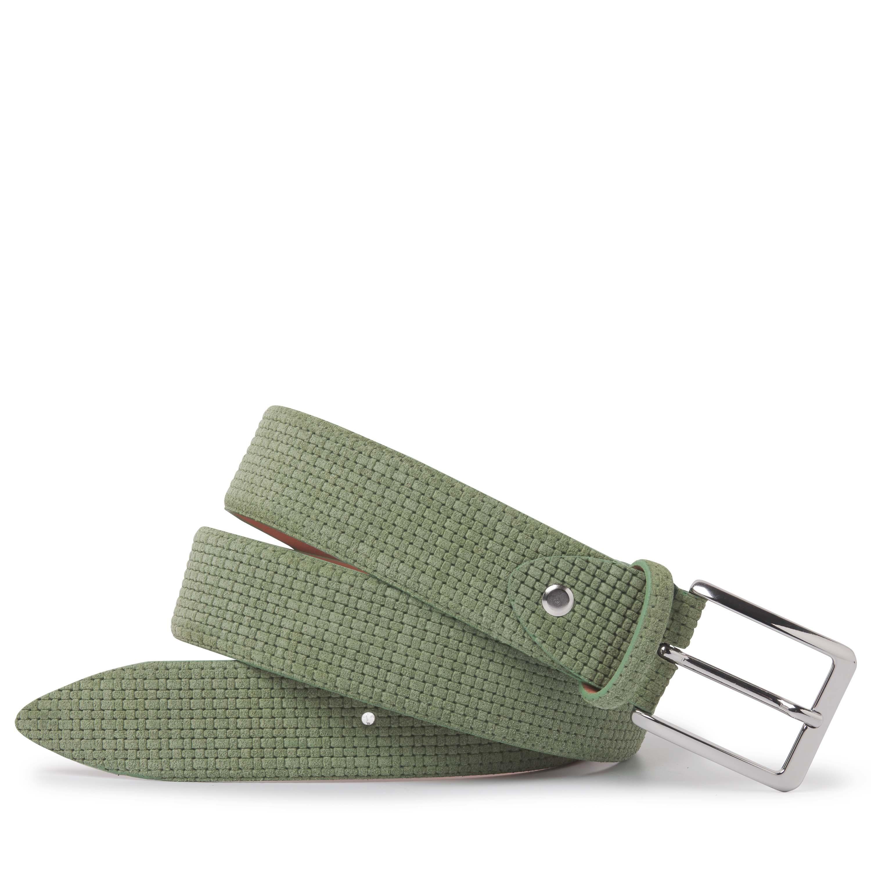Tijs | Belt leather waffle green