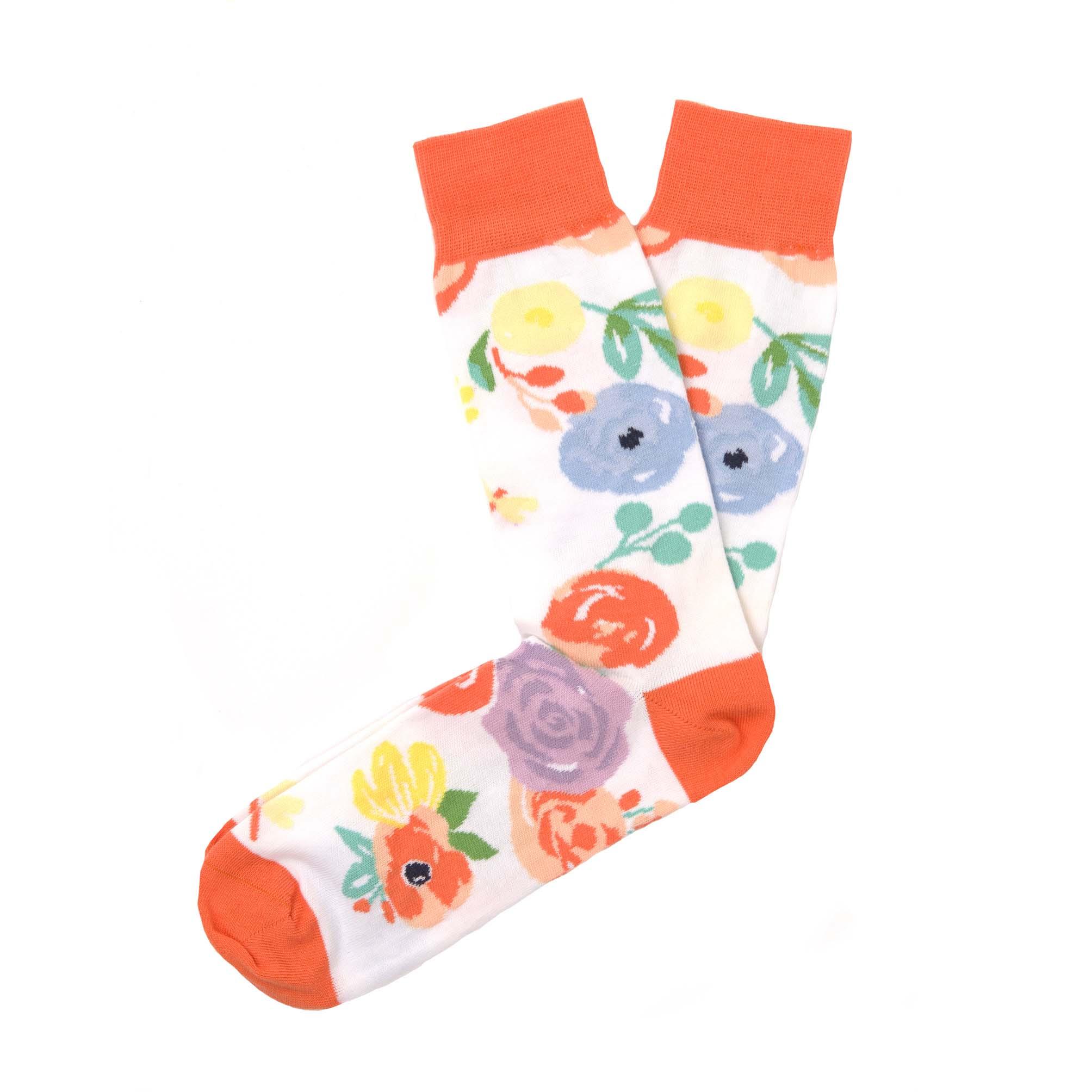 Socks white flowers