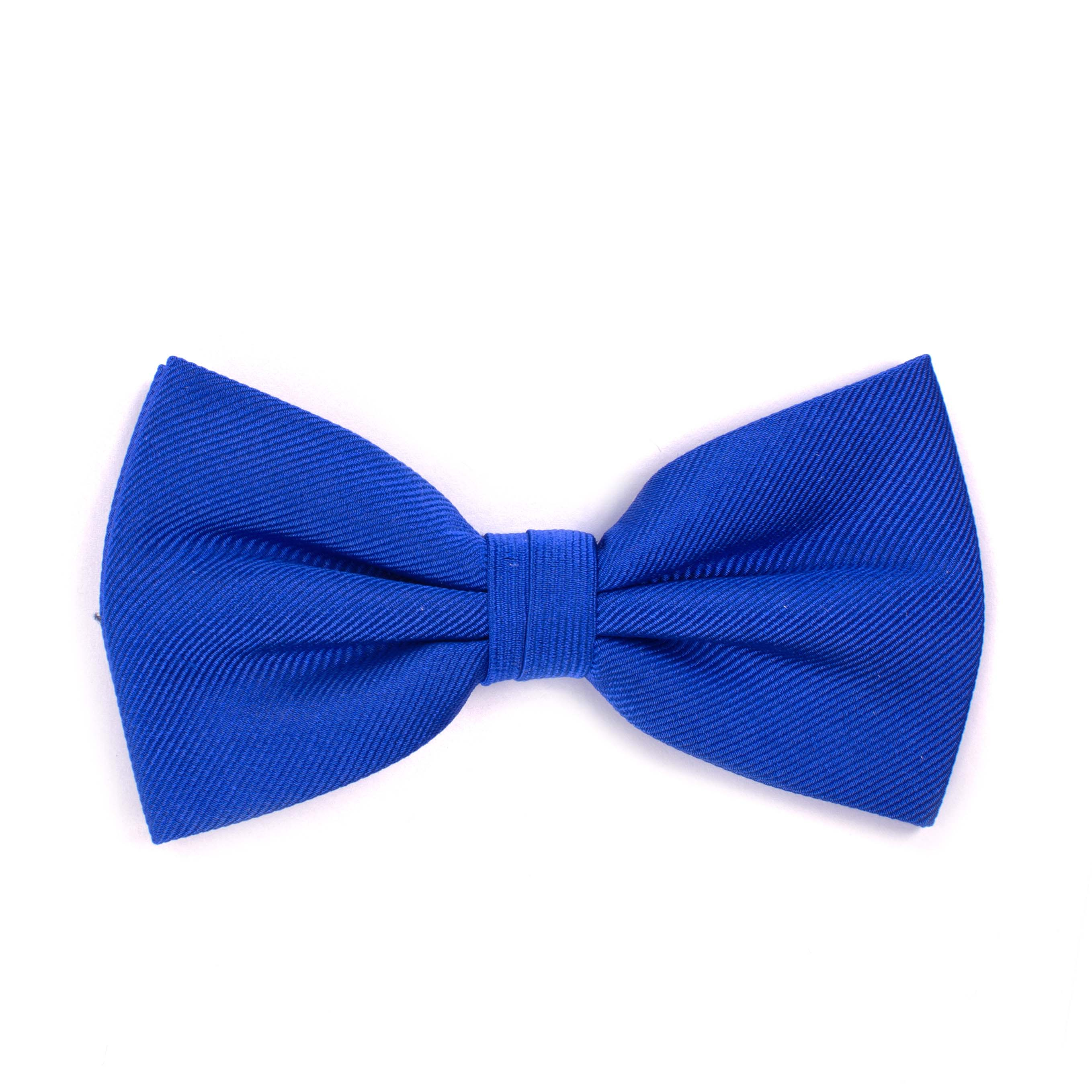 Bow tie classic ribbed royal blue