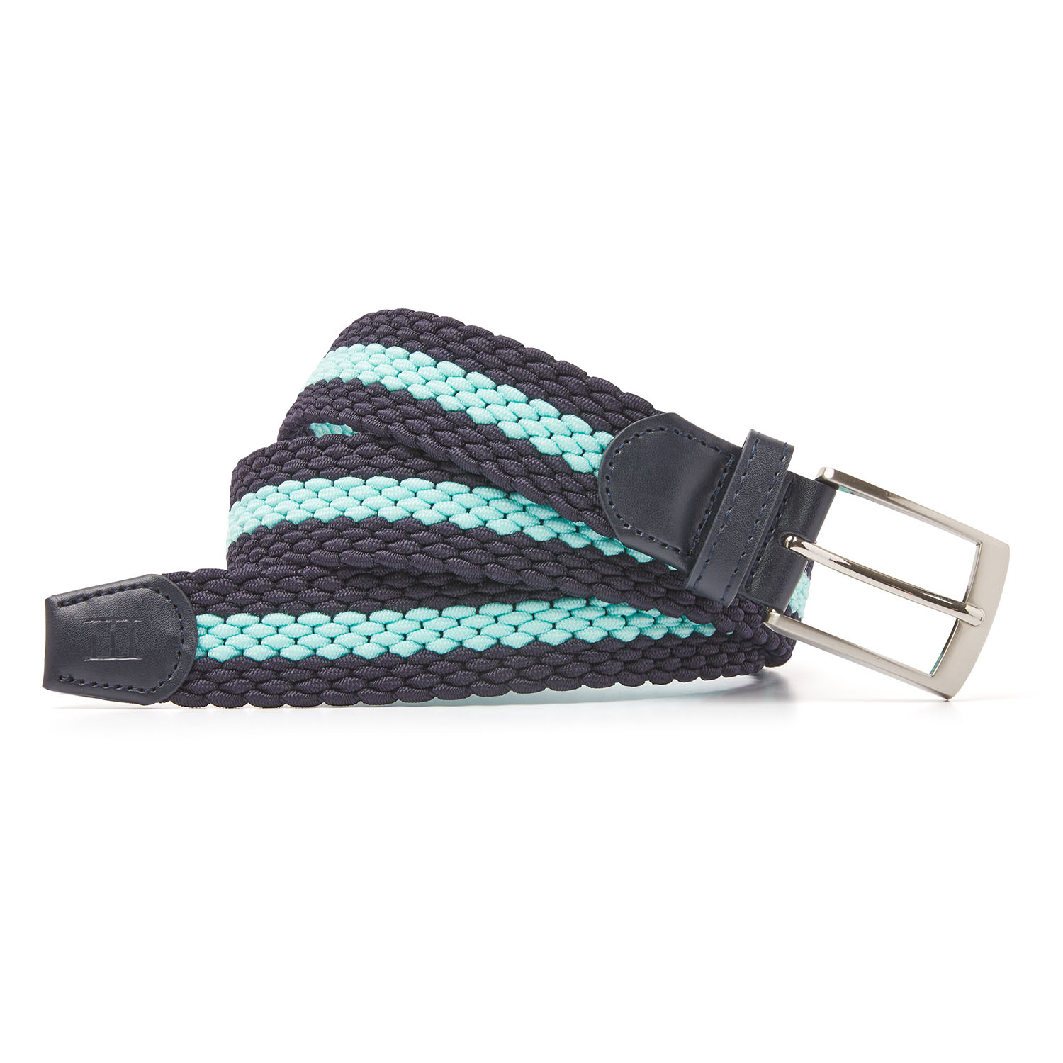 Mees | Braided belt navy/aqua
