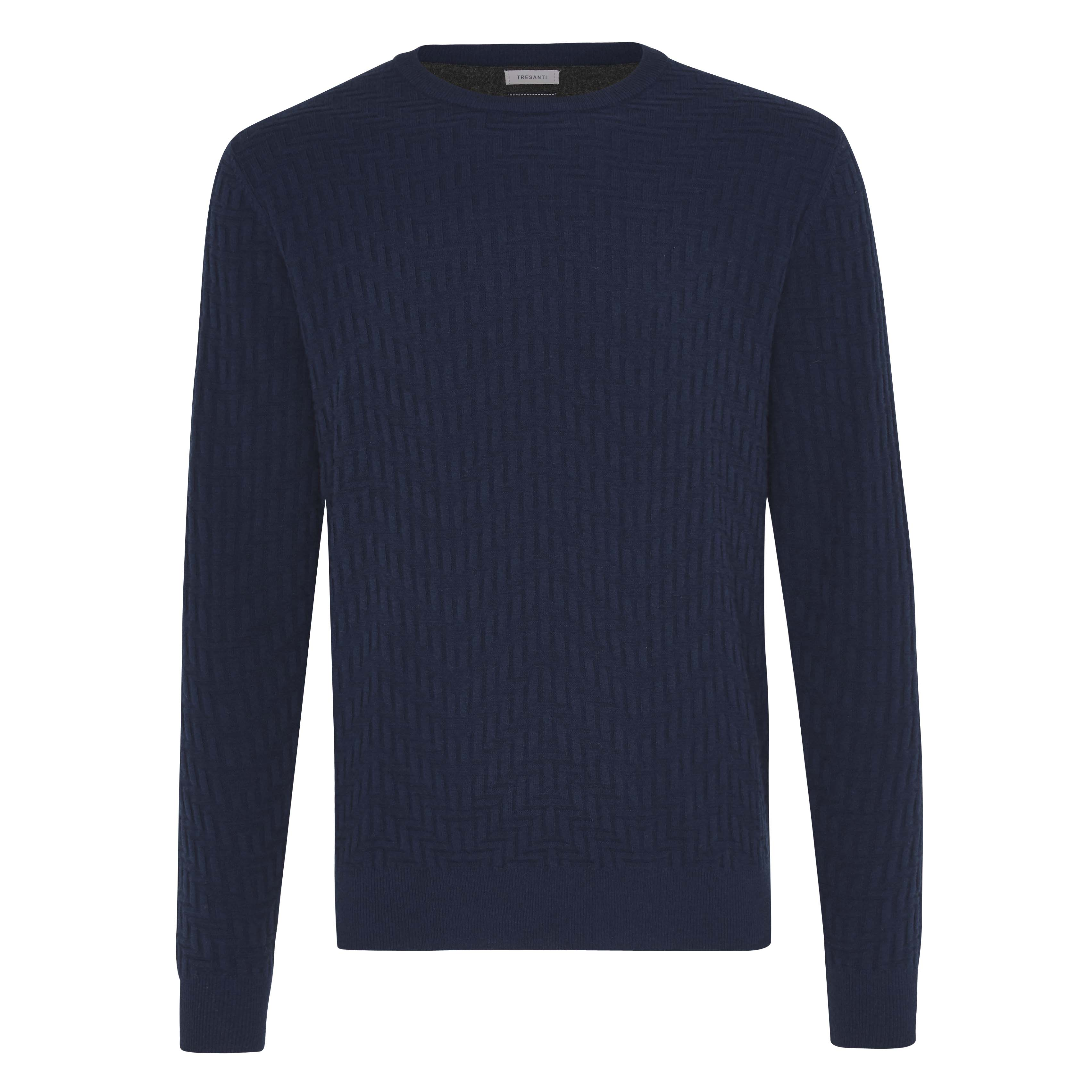 Jax | Pullover zizag blue
