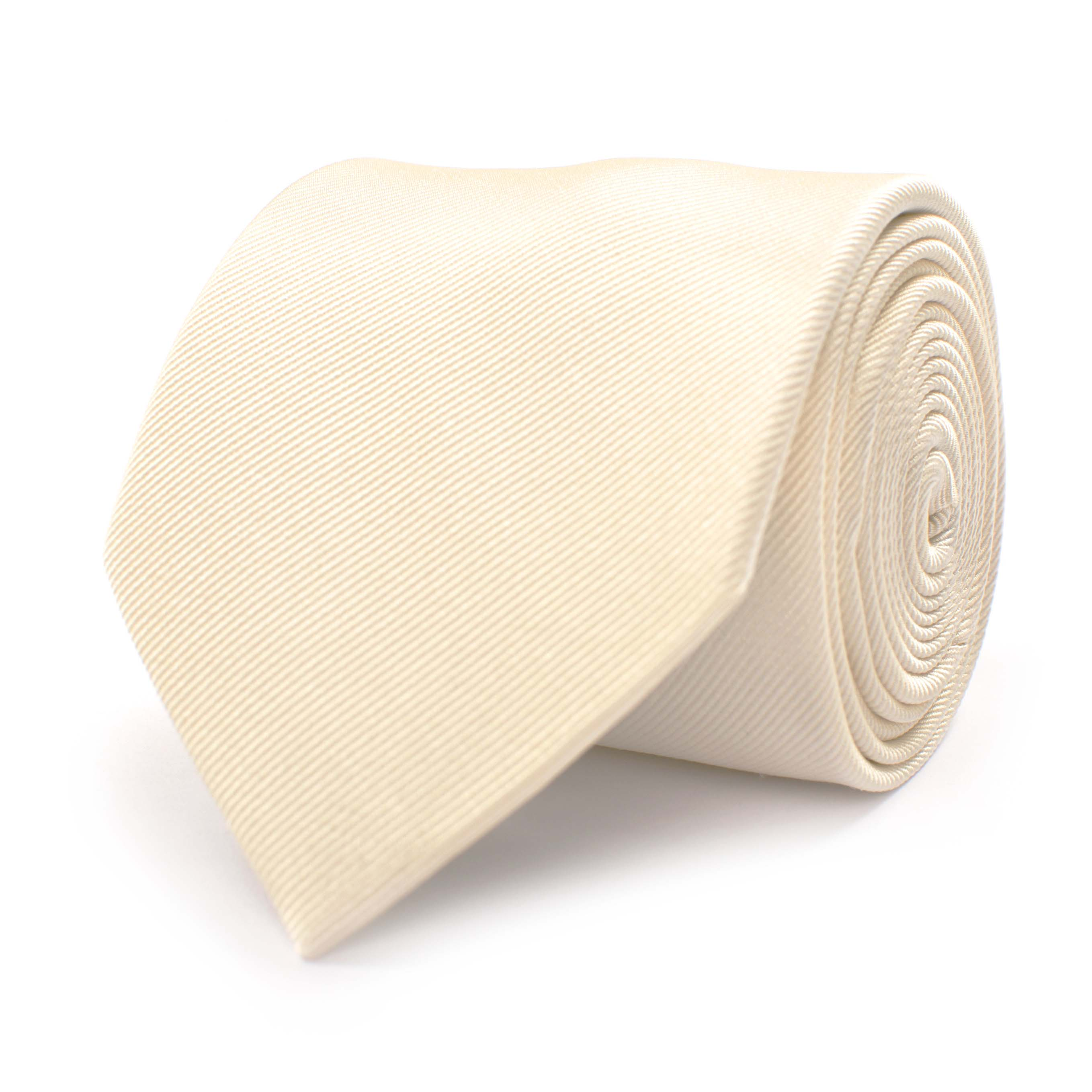 Tie classic ribbed ivory