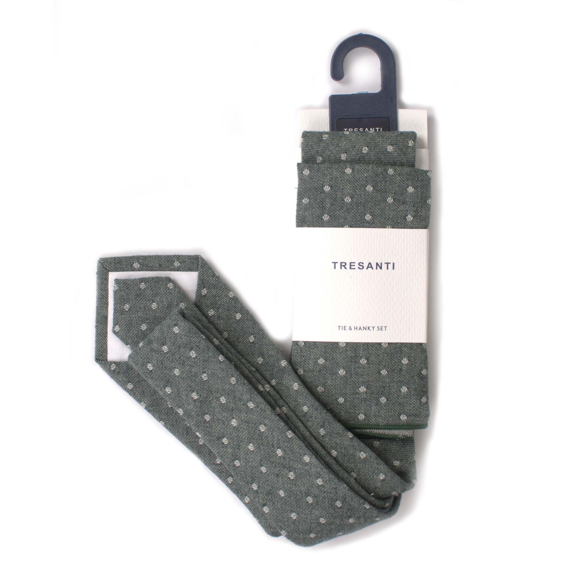 Cotton set tie & hanky dots