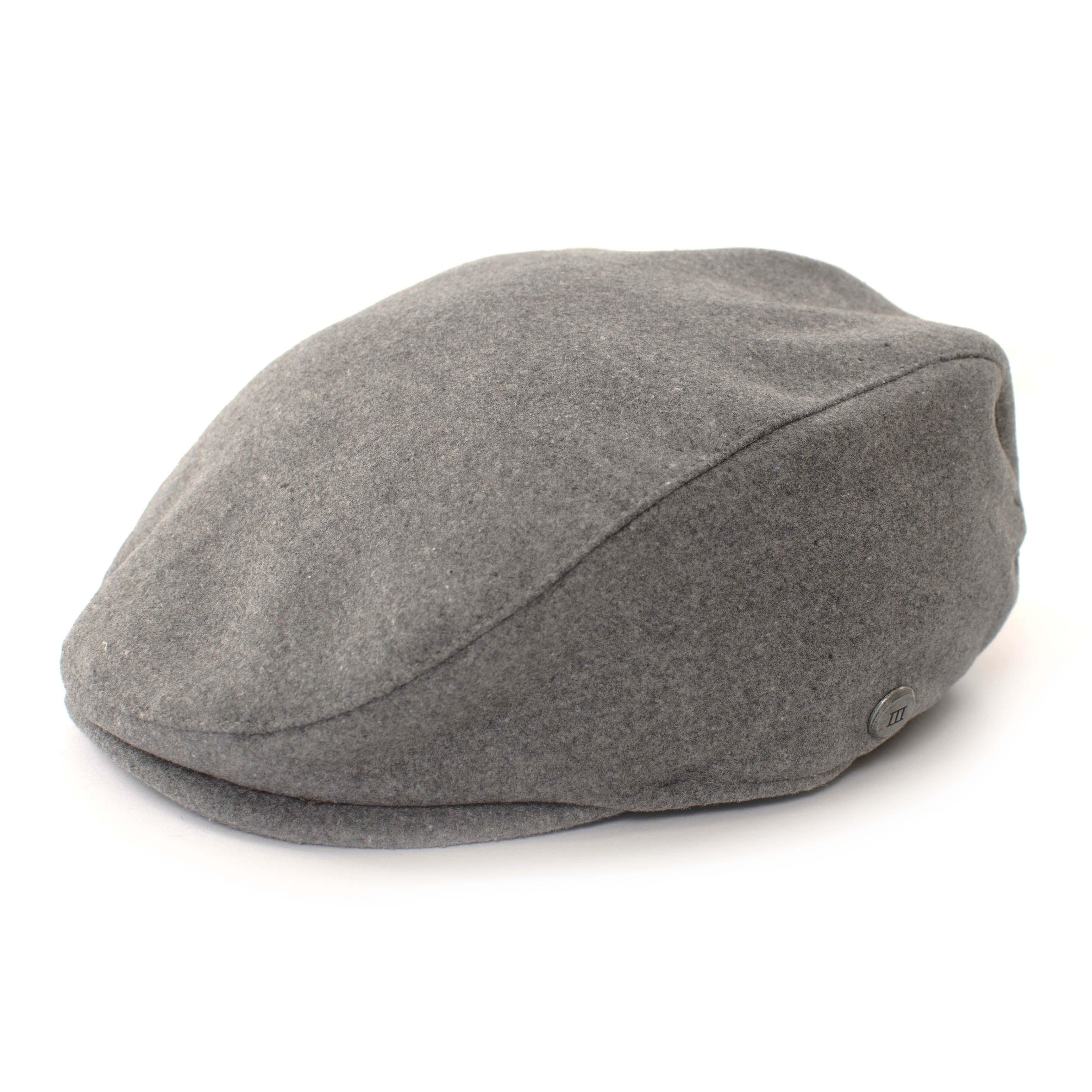 Grey flatcap in wool look