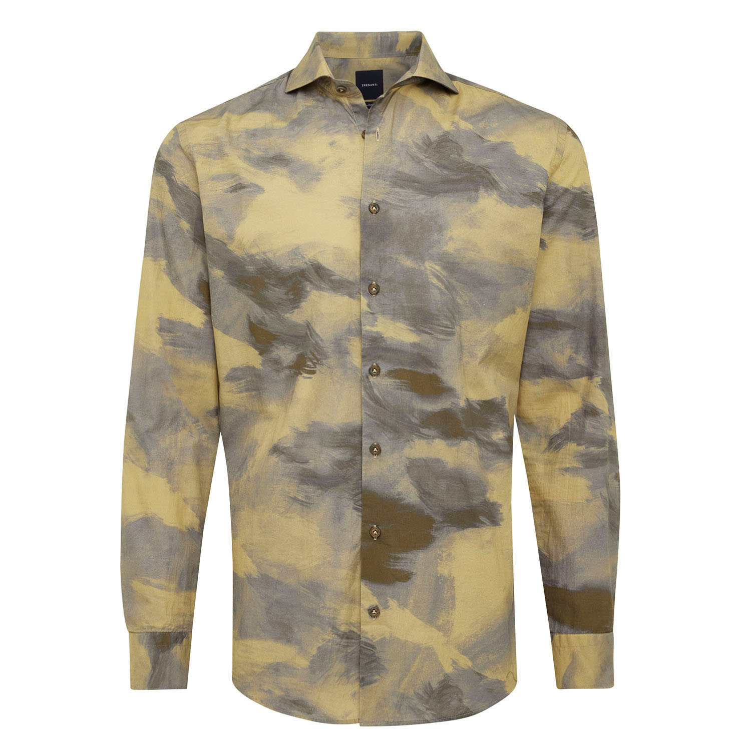 EVEREST | Shirt with button closure and camouflage print beige